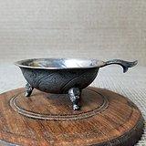 老银器老古董传世纯银三足瑞兽酒杯古代银器 老货老物件