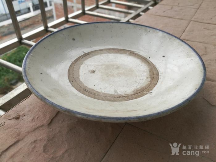 青白釉敞口盘图1