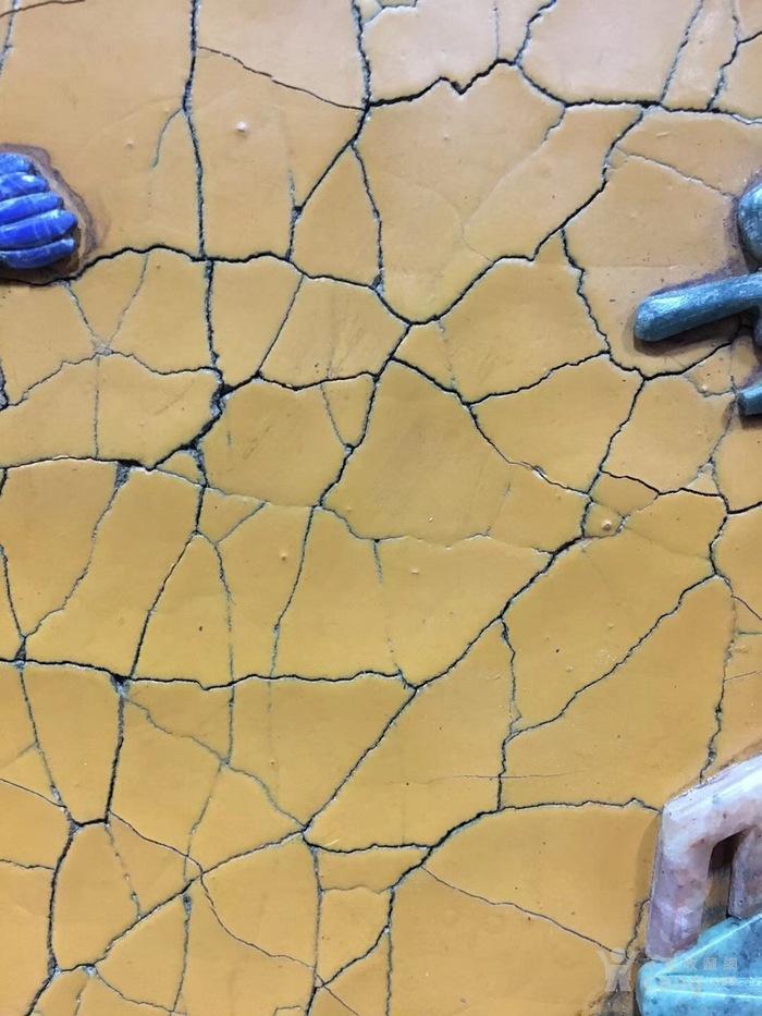 龙 边黄漆灰段百宝嵌挂瓶 长95Cm厚5Cm高68cm图7