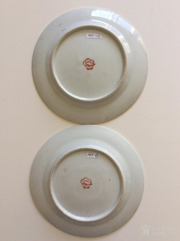 美国回流兴业坊 民国人物故事瓷盘二件 日本名瓷萨摩烧图6