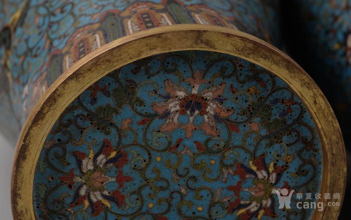 欧洲回流掐丝珐琅龙纹大花瓶图9