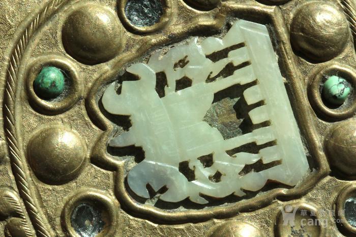 美国回流免费直邮 嵌玉 浮雕龙 铜盒图8