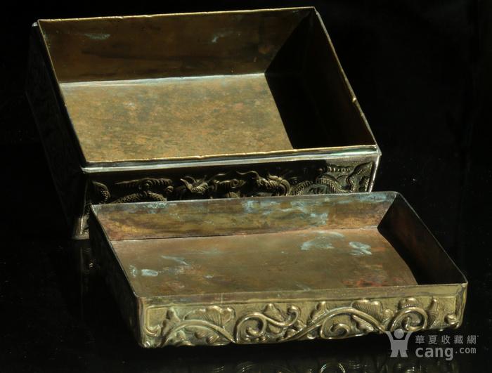 美国回流免费直邮 嵌玉 浮雕龙 铜盒图10