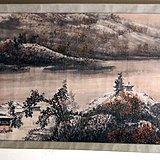 当代  江西著名书画大师  林峰 《一帆风顺图》