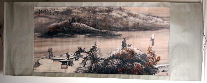 当代  江西著名书画大师  林峰 《一帆风顺图》图1