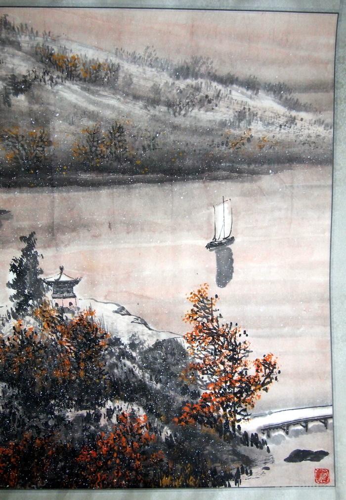 当代  江西著名书画大师  林峰 《一帆风顺图》图3