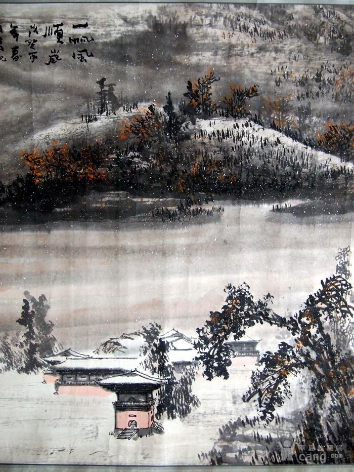 当代  江西著名书画大师  林峰 《一帆风顺图》图5