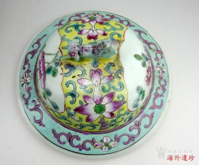 清代 细路粉彩凤凰牡丹四系将军罐图9