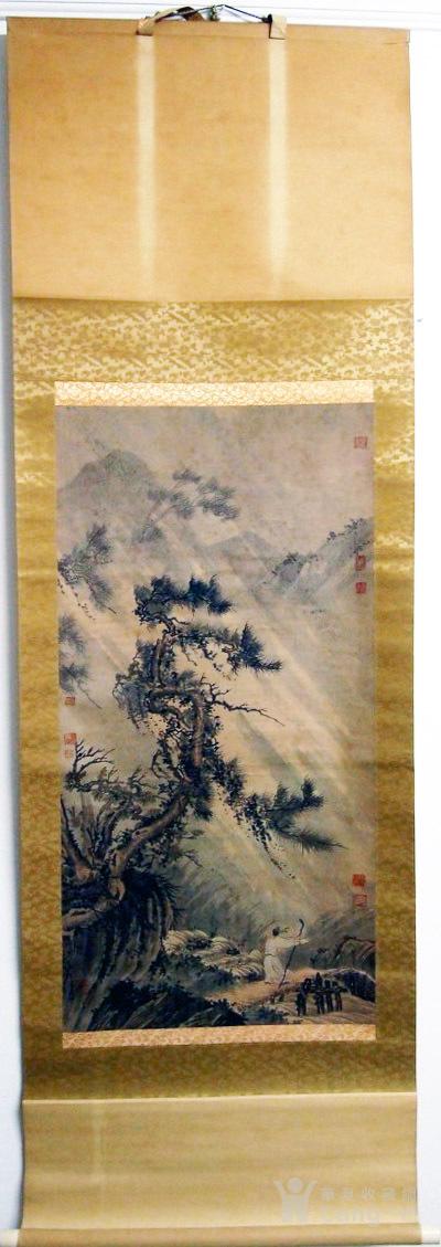 佚名  绢本 山水人物图1