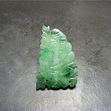 清代老坑满正阳绿翡翠单面工镂空南极仙翁老帽饰