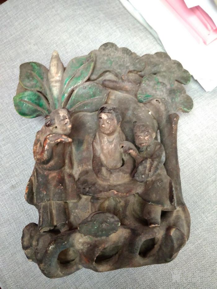清代  石湾窑仙人挂壁图1