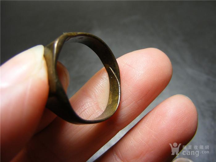 晚清 民国老黄铜收缩式素面大戒指图8