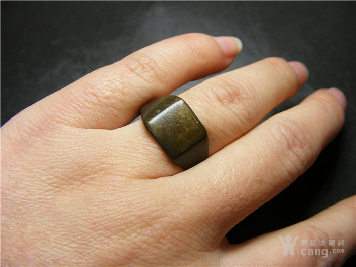 晚清 民国老黄铜收缩式素面大戒指图10
