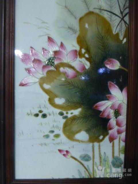 民国花鸟瓷板画四条屏图5