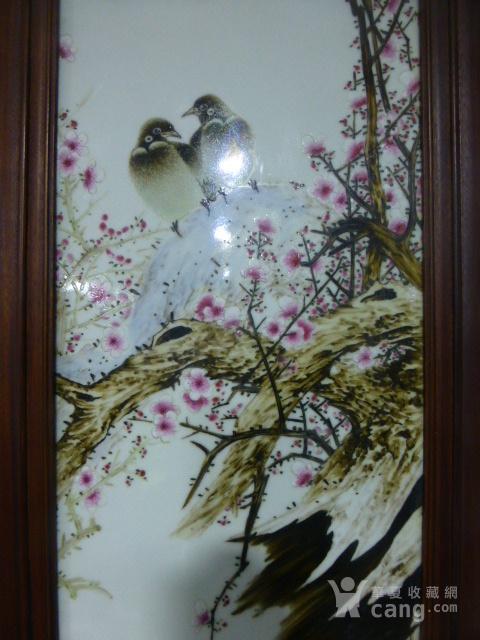 民国花鸟瓷板画四条屏图6