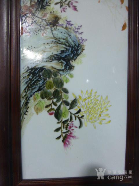 民国花鸟瓷板画四条屏图7