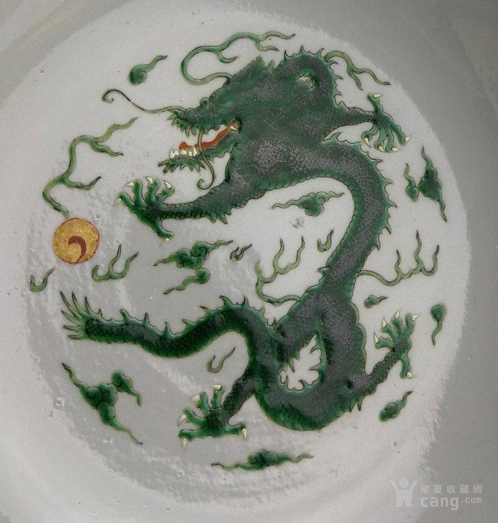 清道光 粉彩绿龙纹大海碗图6