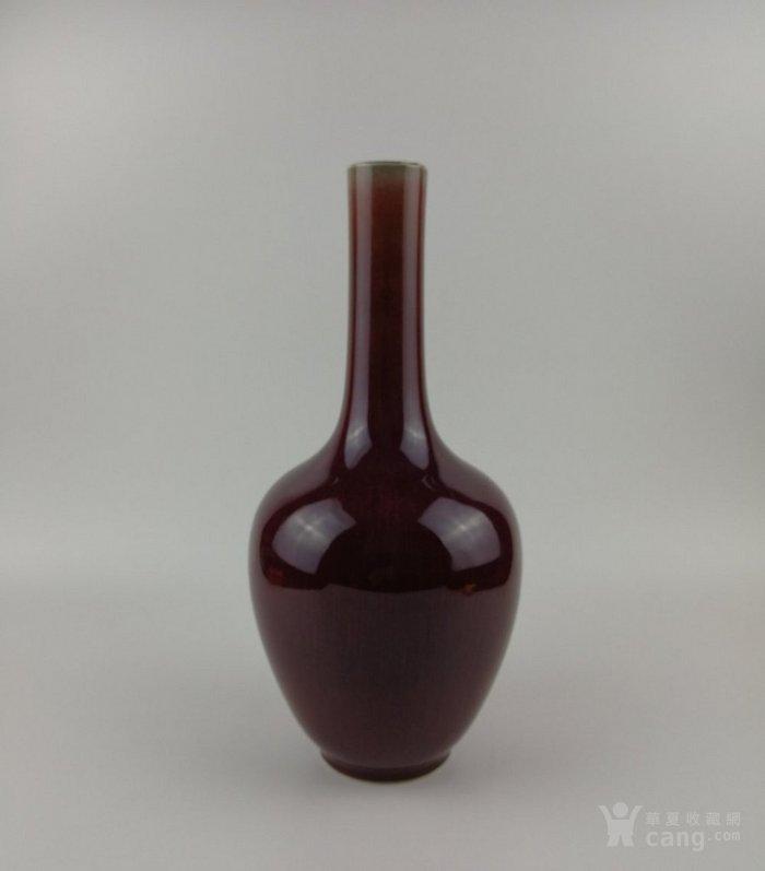 清乾隆晚期 嘉庆:仿钧玫瑰紫窑变釉大油锤瓶图3