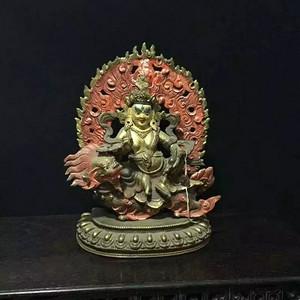 尼泊尔鎏金铜财神