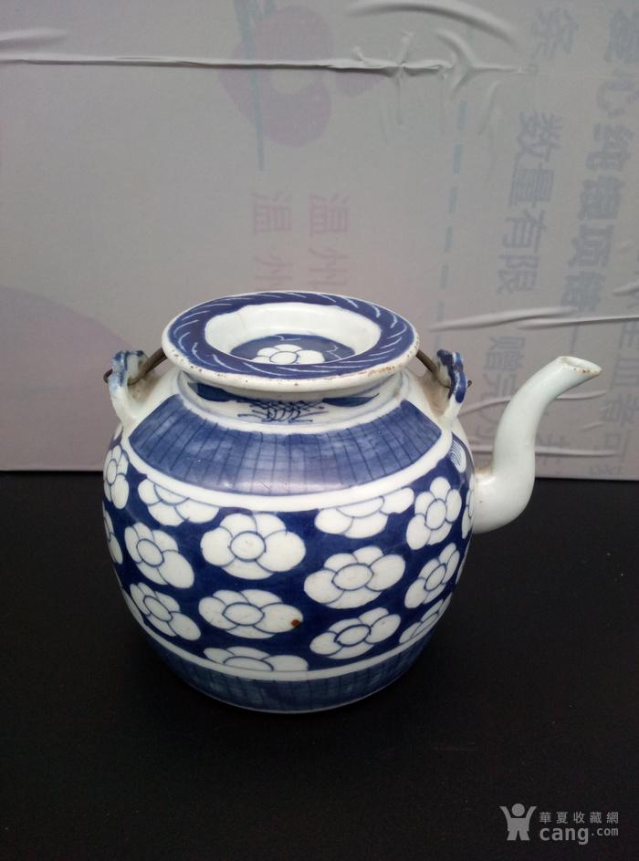 青花壶。图5