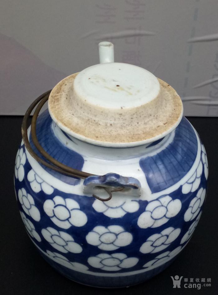 青花壶。图7