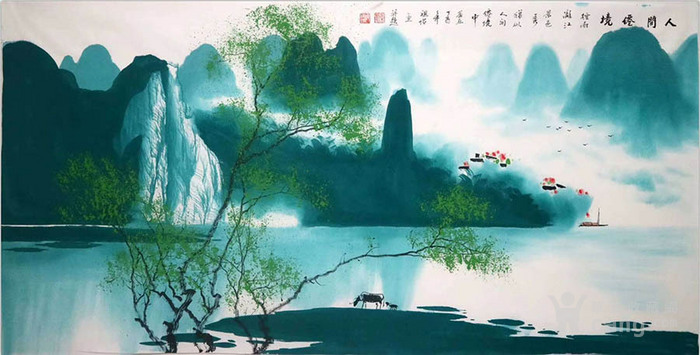 彦祖怡  183 四尺漓江山水图7