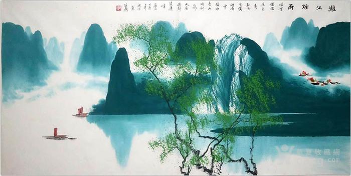 彦祖怡  183 四尺漓江山水图6