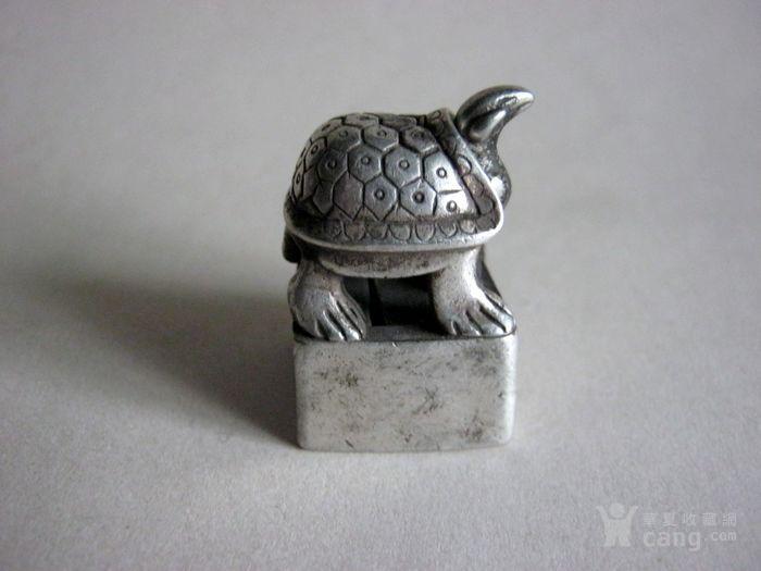 老银龟子母套印章图2
