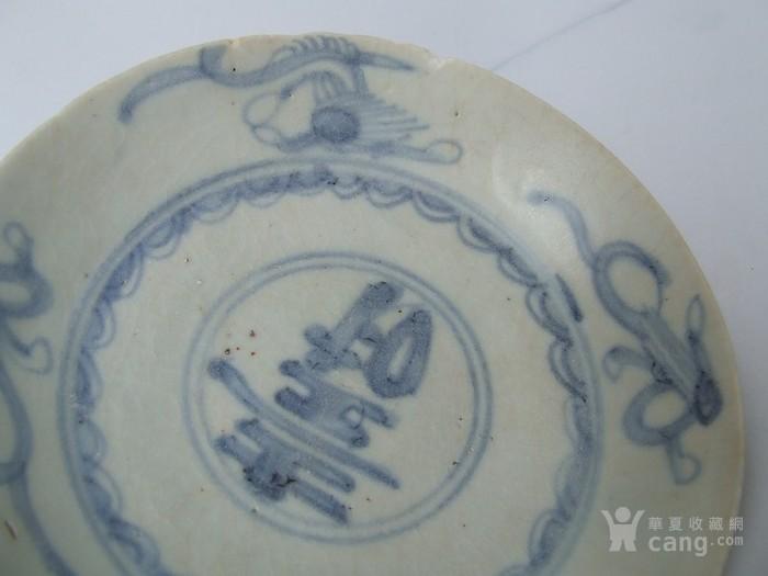 出水的明代寿字纹青花盘图6