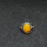 德国19世纪回流天然波罗的老蜜蜡老银戒指 199不议价