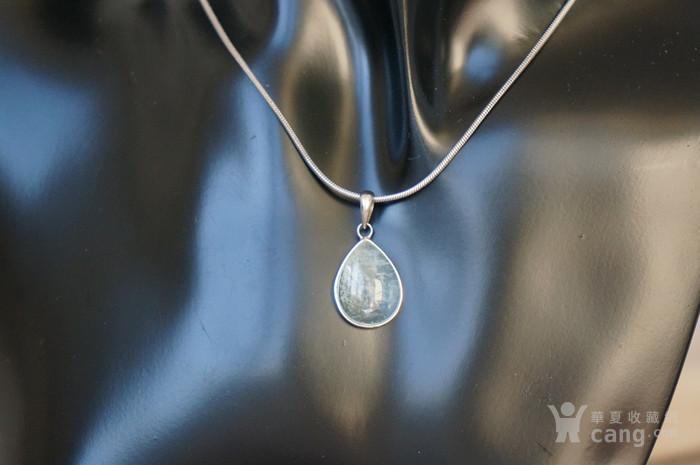 纯银天然月亮宝石吊坠特价图10