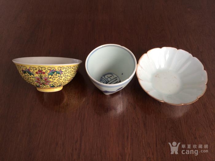 粉彩碗青花杯影青洗图1