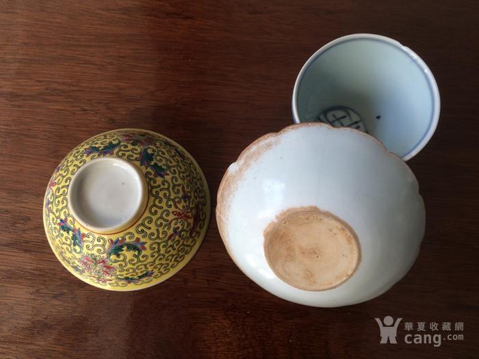 粉彩碗青花杯影青洗图2