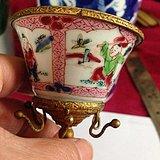 英伦茉莉早市  英国回流雍正粉彩瓷包铜镏金