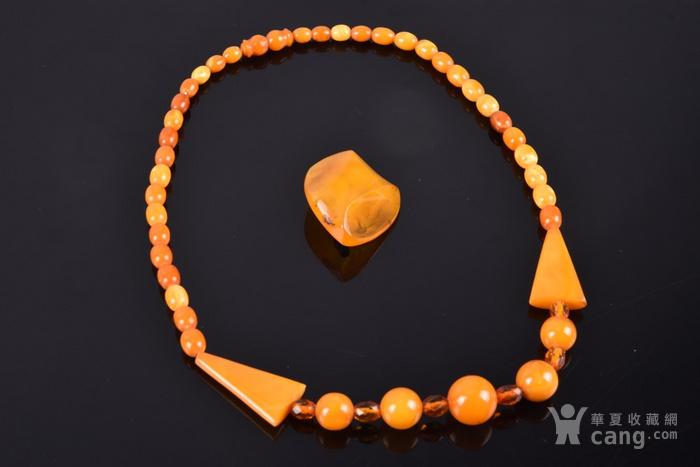 三十年代天然老蜜蜡欧式项链 材美工良,包浆润泽 图2