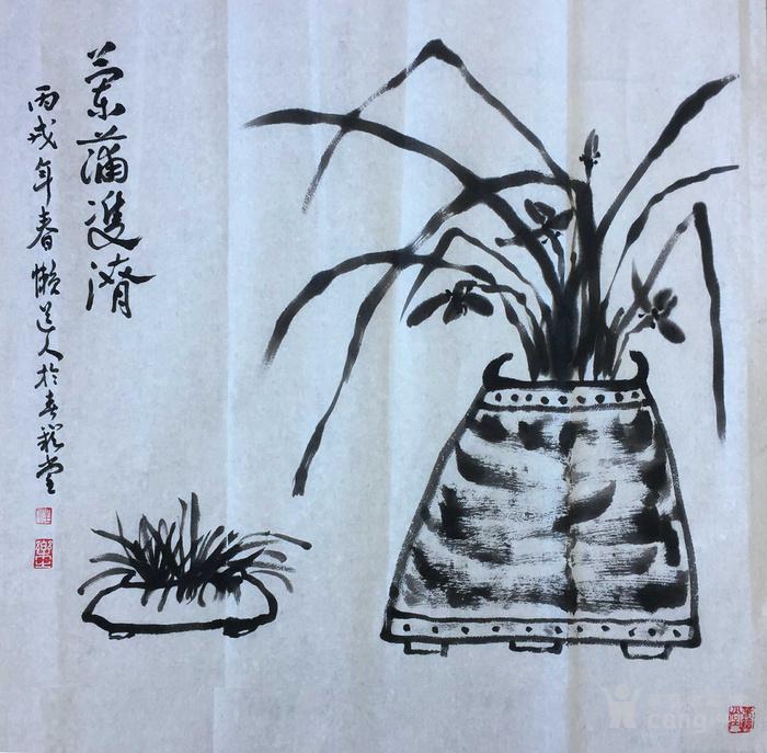 兰花斗方-图1