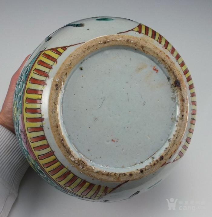 清代  粉彩 人物故事纹 莲子盖罐 三件包国际邮费 图9