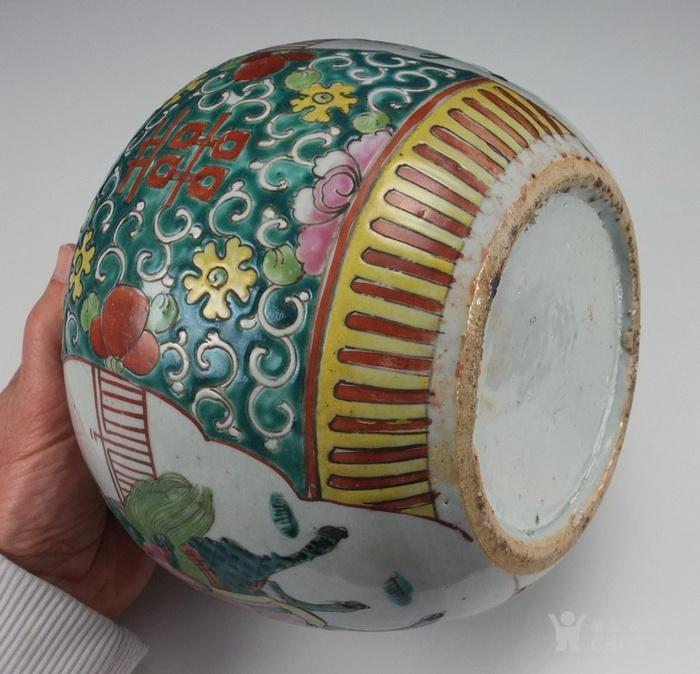 清代  粉彩 人物故事纹 莲子盖罐 三件包国际邮费 图7