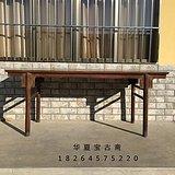 老黄花梨条案 明清老家具 古董老木器 清代黄花梨平头案条桌