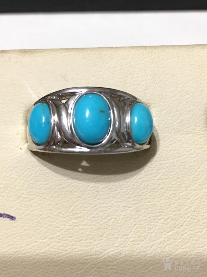 印第安河回流 瓷松原矿纯银戒指两只图2