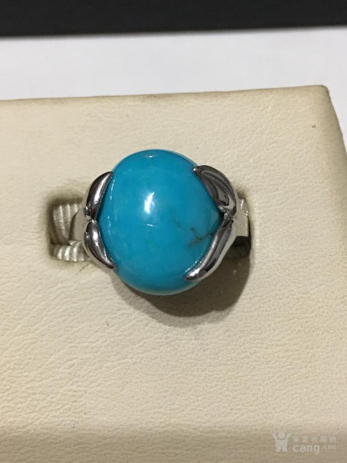 印第安河回流 瓷松原矿纯银戒指两只图3