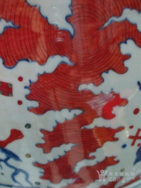 明代五彩卷缸图11