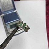英伦茉莉早市  欧洲款祖母绿钻石9k金戒指