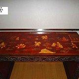 大漆描金婴戏琴桌