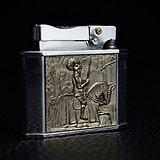 欧美古董收藏品美国烟具Rogers煤油打火机点火器 功能良好