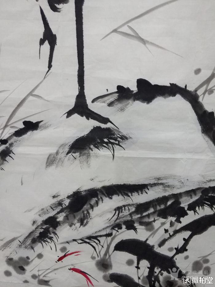 华夏古玩城 字画 当代 > 著名花鸟画家王安民《鹤》