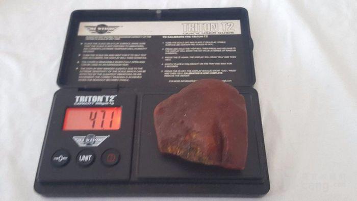 特价:原矿枣皮红老蜜蜡原石47.1克 谢绝大幅议价图8
