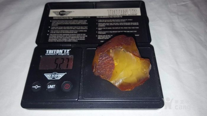 原矿鸡油黄蜜蜡原石52.7克 谢绝大幅议价图5