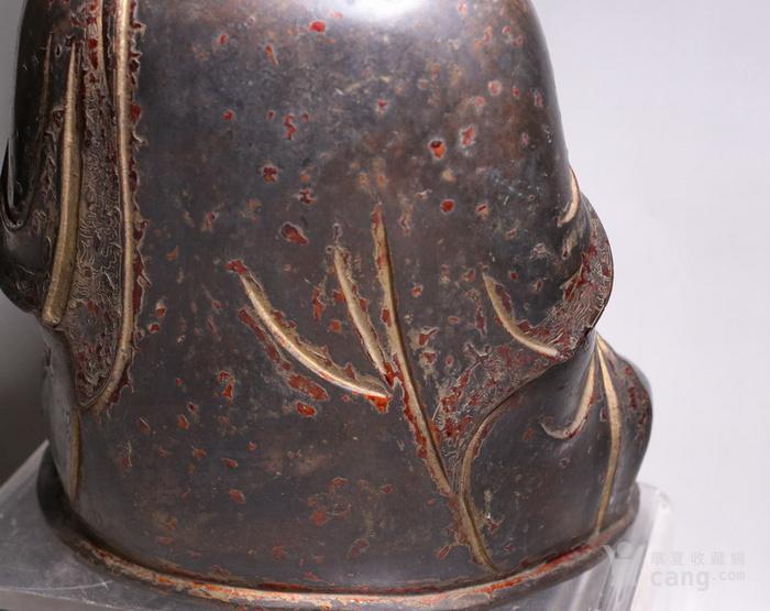 清代 释迦牟尼紫铜佛像图8