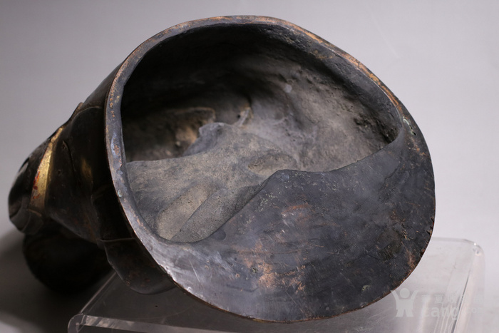 清代 释迦牟尼紫铜佛像图10